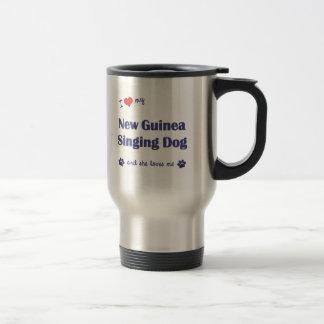I Love My New Guinea Singing Dog (Female Dog) 15 Oz Stainless Steel Travel Mug