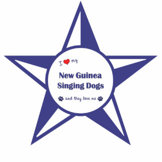 I Love My New Guinea Singing Dogs (Multiple Dogs) Cutout