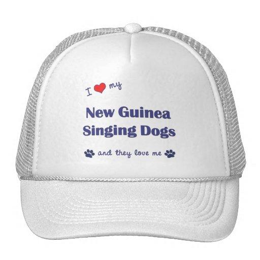 I Love My New Guinea Singing Dogs (Multiple Dogs) Trucker Hat