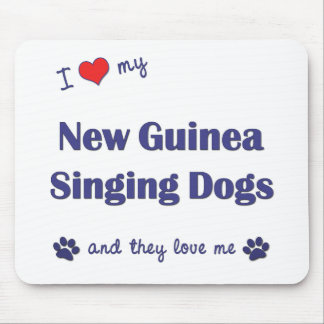 I Love My New Guinea Singing Dogs (Multiple Dogs) Mouse Pad