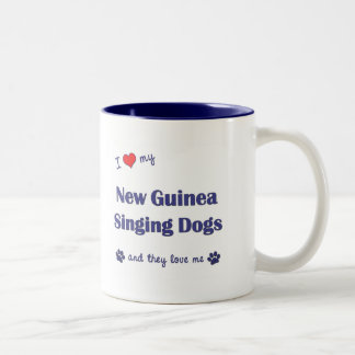 I Love My New Guinea Singing Dogs (Multiple Dogs) Two-Tone Coffee Mug