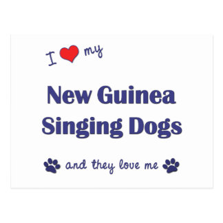 I Love My New Guinea Singing Dogs (Multiple Dogs) Post Card