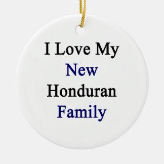 I Love My New Honduran Family Christmas Tree Ornaments