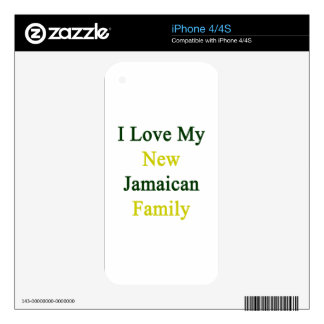 I Love My New Jamaican Family Skin For iPhone 4S
