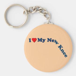 I Love My New Knee Keychain
