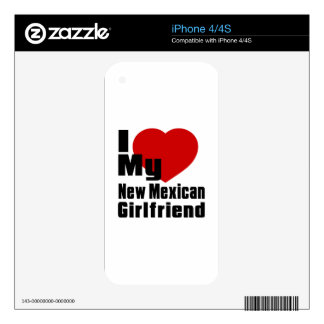 I Love My New Mexican Girlfriend Decals For iPhone 4