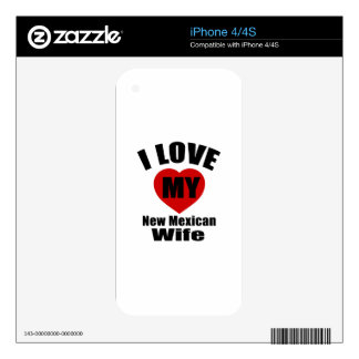 I Love My New Mexican Wife iPhone 4S Skin