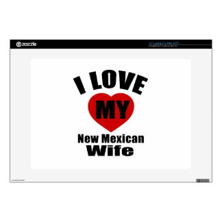 I Love My New Mexican Wife Laptop Decals