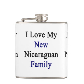I Love My New Nicaraguan Family Flasks