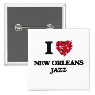 I Love My NEW ORLEANS JAZZ 2 Inch Square Button