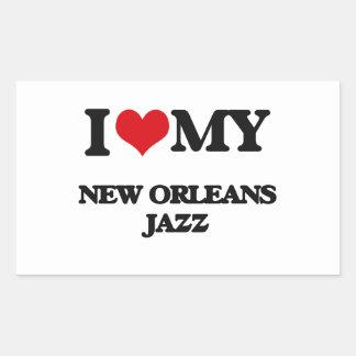 I Love My NEW ORLEANS JAZZ Rectangular Sticker