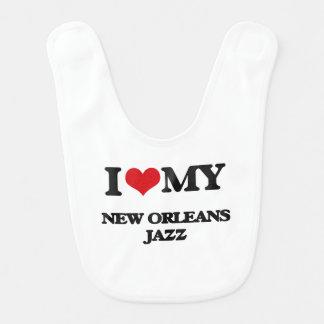 I Love My NEW ORLEANS JAZZ Baby Bib
