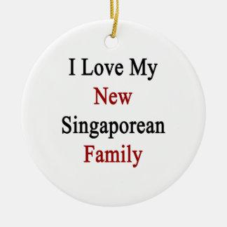 I Love My New Singaporean Family Christmas Ornament