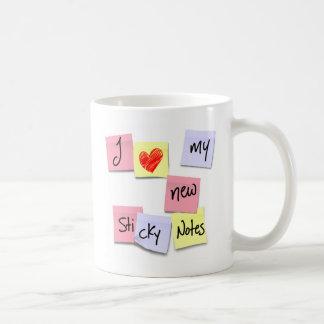 I LOVE MY NEW STICKY NOTES CLASSIC WHITE COFFEE MUG