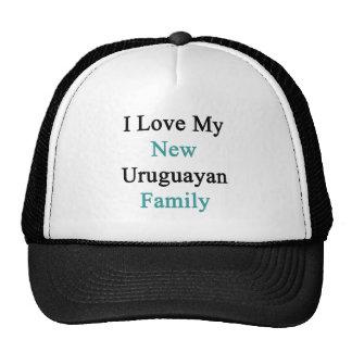 I Love My New Uruguayan Family Mesh Hats