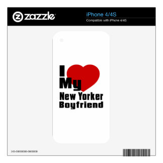 I Love My New Yorker boyfriend Decals For iPhone 4S