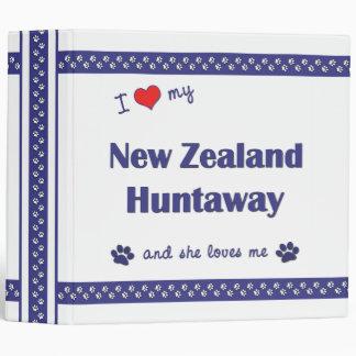 I Love My New Zealand Huntaway (Female Dog) 3 Ring Binders