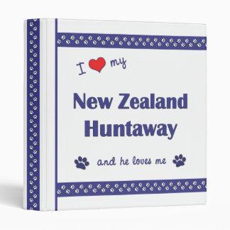 I Love My New Zealand Huntaway (Male Dog) Binders