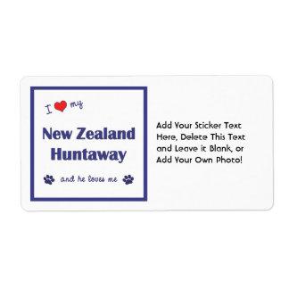 I Love My New Zealand Huntaway (Male Dog) Custom Shipping Labels