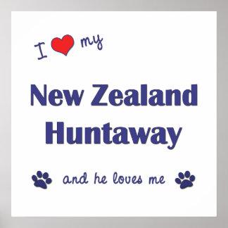 I Love My New Zealand Huntaway Male Dog Print