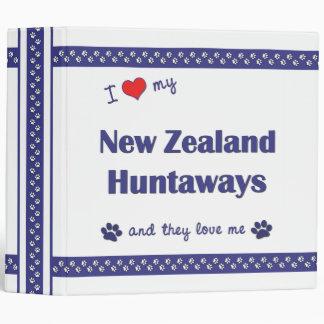 I Love My New Zealand Huntaways (Multiple Dogs) 3 Ring Binders