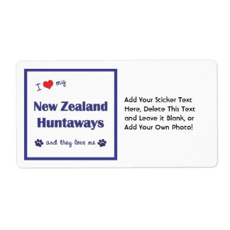 I Love My New Zealand Huntaways (Multiple Dogs) Personalized Shipping Label