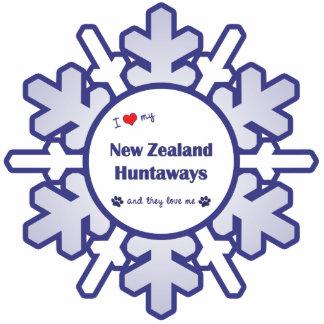 I Love My New Zealand Huntaways (Multiple Dogs) Photo Sculpture Ornament