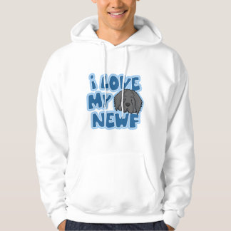 I Love My Newf Hooded Sweatshirt