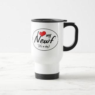 I Love My Newf (It's a Dog) Mugs