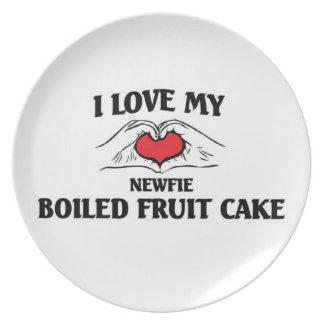 I love my Newfie Boiled Fruit cake Dinner Plate