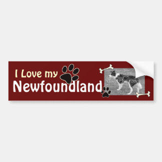 I love my Newfoundland Bumper Sticker