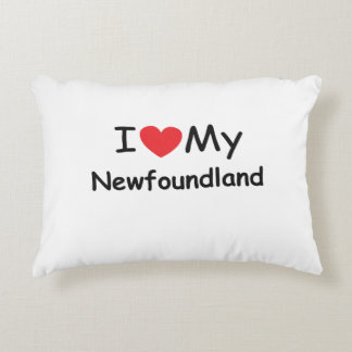 I love my Newfoundland dog Accent Pillow