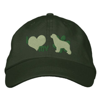 I Love my Newfoundland Embroidered Hat (Green)