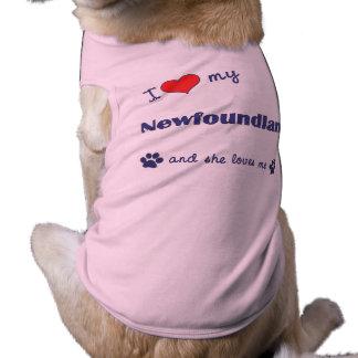 I Love My Newfoundland (Female Dog) Doggie Tshirt