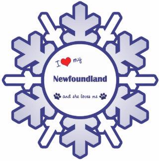 I Love My Newfoundland (Female Dog) Photo Sculpture