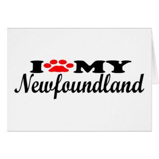 I Love My Newfoundland Greeting Card