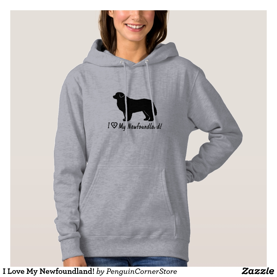 I Love My Newfoundland! Hoodie - Best Selling Long-Sleeve Street Fashion Shirt Designs
