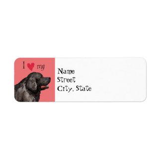 I Love my Newfoundland Label