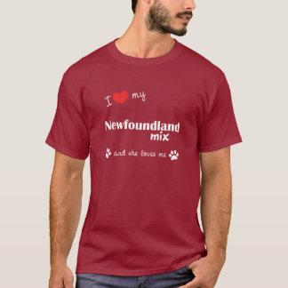 I Love My Newfoundland Mix (Female Dog) T-Shirt