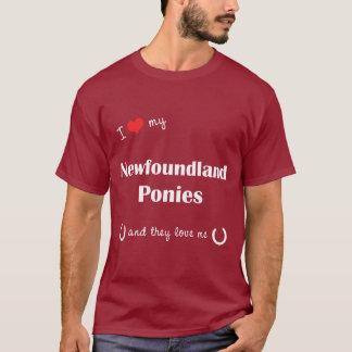I Love My Newfoundland Ponies (Multiple Ponies) T-Shirt