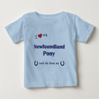 I Love My Newfoundland Pony (Female Pony) T Shirt