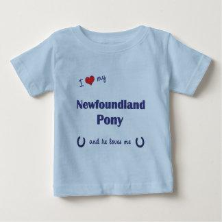 I Love My Newfoundland Pony (Male Pony) T Shirts
