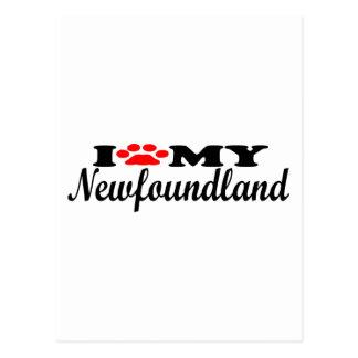 I Love My Newfoundland Postcard