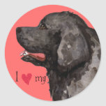 I Love my Newfoundland Round Sticker
