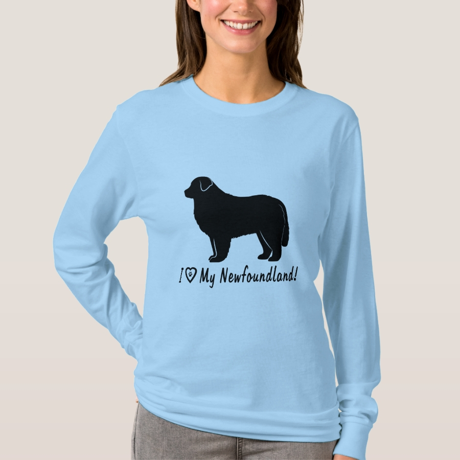 I Love My Newfoundland! T-Shirt - Best Selling Long-Sleeve Street Fashion Shirt Designs