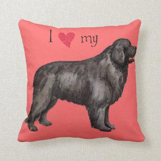 I Love my Newfoundland Throw Pillow