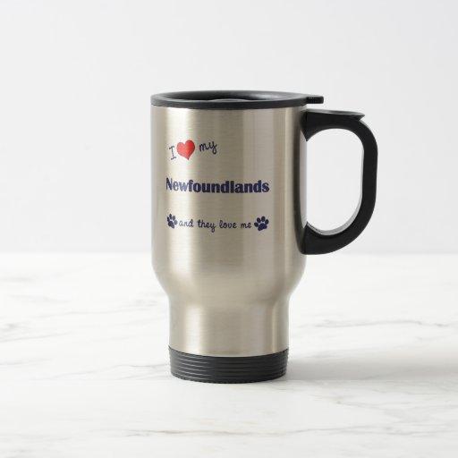 I Love My Newfoundlands (Multiple Dogs) Mug