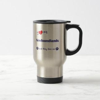 I Love My Newfoundlands (Multiple Dogs) Travel Mug