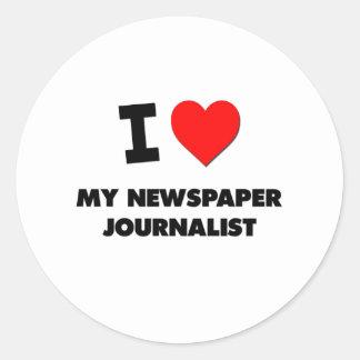 I love My Newspaper Journalist Sticker