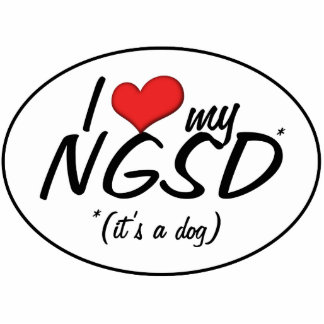 I Love My NGSD (It's a Dog) Statuette
